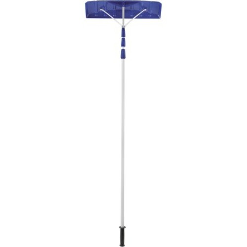 Snow Joe RJ204M Telescoping Snow Shovel Roof Rake | 21-Foot Extension | Poly Blade