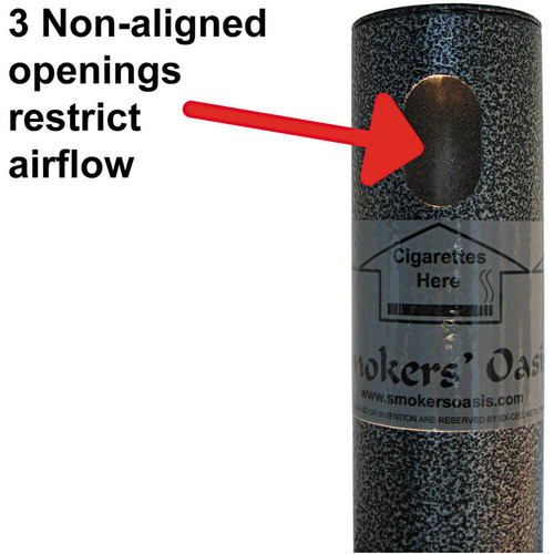 Ex-Cell Smokers' Oasis Receptacle, Round, Steel, 4.5gal, Charcoal