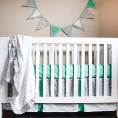 Pam Grace Creations Friendly Fox 4-Piece Crib Bedding Set