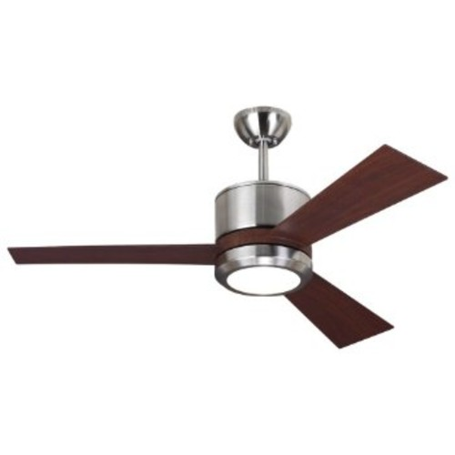 Vision II Ceiling Fan [Fan Body and Blade Finish : Brushed Steel with Teak]