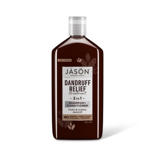 JASON Dandruff Relief 2-in-1 Treatment Shampoo and Conditioner, 12 oz. (Packaging May Vary)
