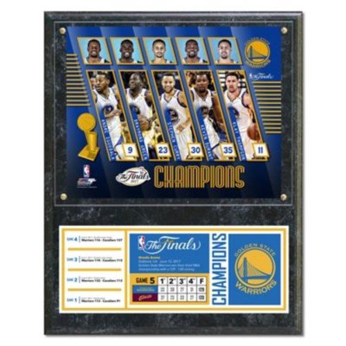 NBA 2017 Golden State Warriors Championship Plaque with Metal Plate