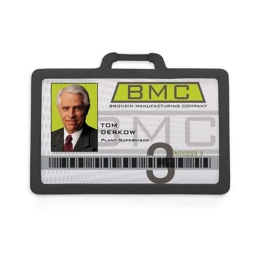 1341225BK31 Horizontal Badge Holders, Black, 10/Pack