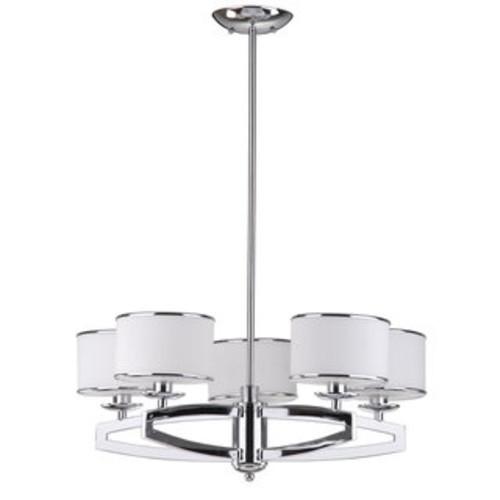 Safavieh Indoor 5-light Lenora Chrome Drum Pendant