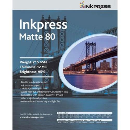 Inkpress Duo 80 Inkjet Matte Photo Paper (4x6