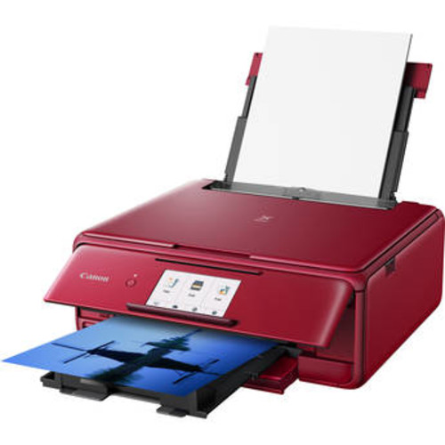 PIXMA TS8120 Wireless All-in-One Inkjet Printer (Red)