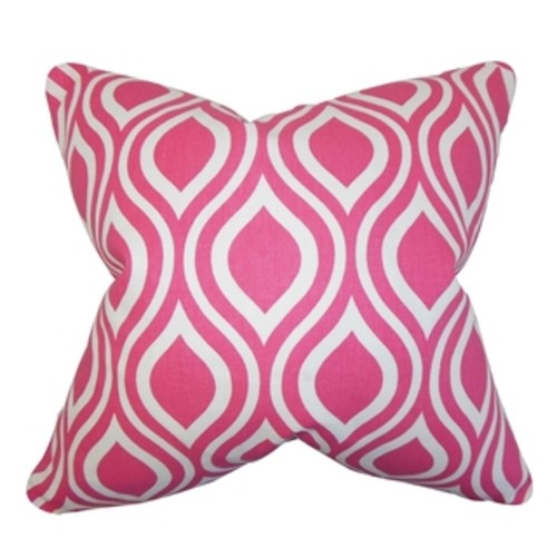 Jaslene Geometric Candy Feather Filled Throw Pillow