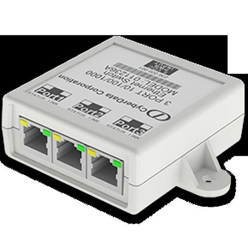 CyberData 3-Port Gigabit Ethernet Switch - Switch - 3 x 10/100/1000 - desktop