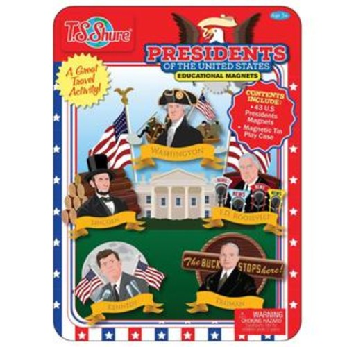 TS Shure Presidents of the United States Educational Magnetic Tin Playset