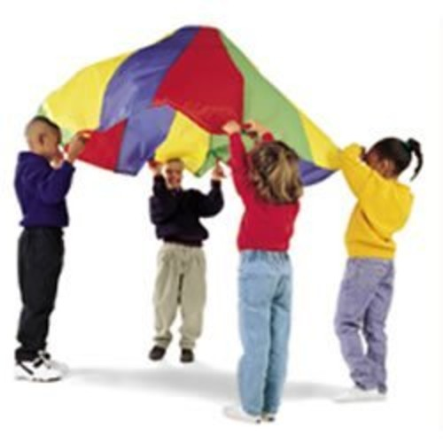Dick Martin Sports MASP24 Parachute with 20 Handles, 24' Diameter Grade Kindergarten to 1, 4.0999999999999996