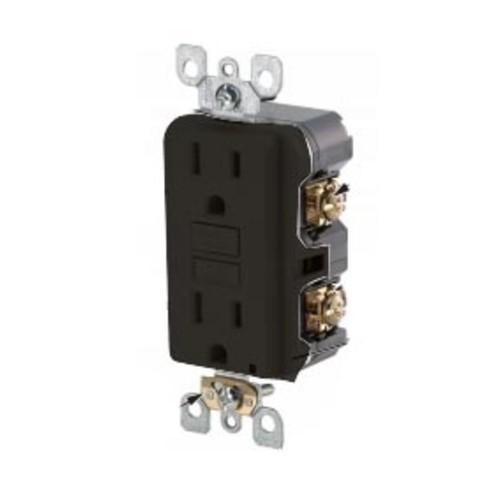 Leviton GFWR1-E 15 Amp, 125 Volt Weather-Resistant GFCI, Black