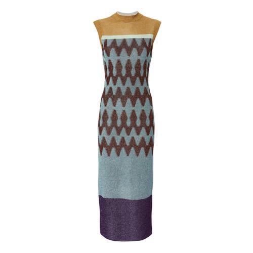 MISSONI Jacquard Lame Knit Midi Dress