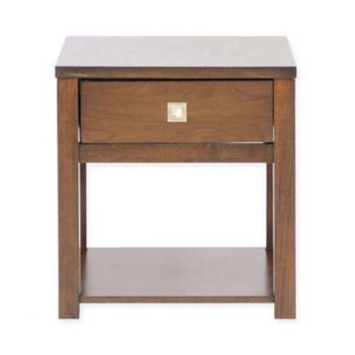 Baxton Studio New Jersey End Table in Brown