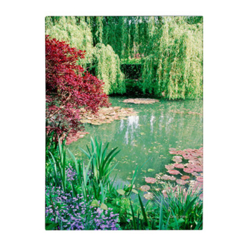 'Monet's Lily Pond 2' by Kathy Yates Photographic Print on Canvas