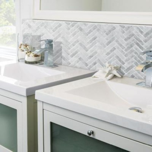 Smart Tiles Cortina Grigio 10.58 in. W x 9.72 in. H Peel and Stick Decorative Mosaic Wall Tile Backsplash (6-Pack)