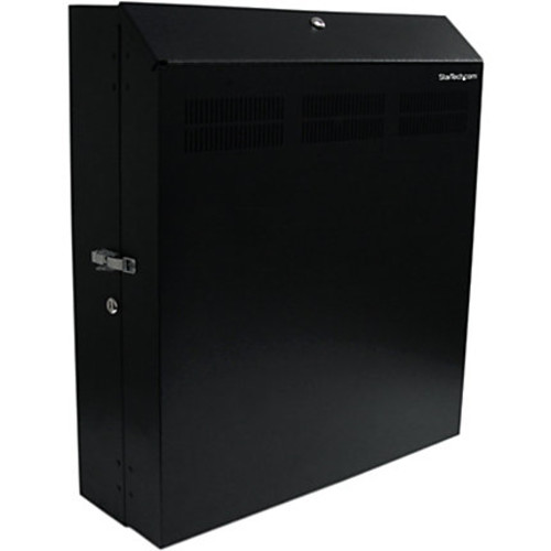 StarTech.com Wall-Mount Server Rack with Dual Fans and Lock - Vertical Mounting Rack for Server - 4U