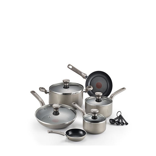 T-fal 12-Piece Excite Shimmer Cookware Set