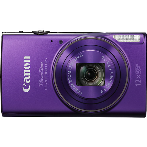 Canon - PowerShot ELPH 360 20.2-Megapixel Digital Camera - Purple