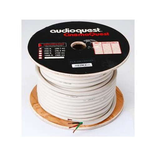 AudioQuest FLX-14/4 14-Gauge 4-Conductor In-Wall Speaker Cable (125 feet) CL3-rated for in-wall use; direct-burial rated