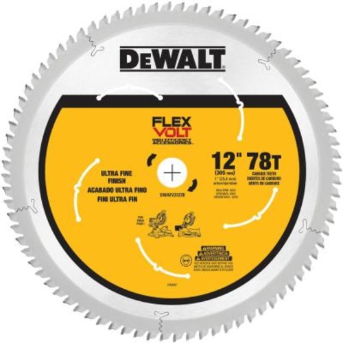 DEWALT FLEXVOLT 12 in. 78-Teeth Miter Saw Blade