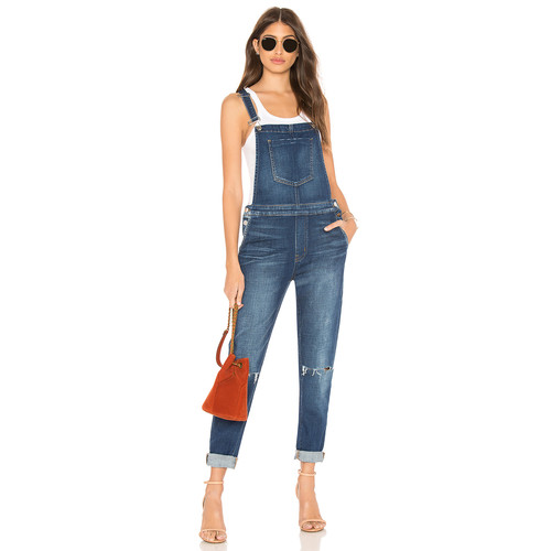 L'AGENCE Harper Overall Pant in Diamond Destruct