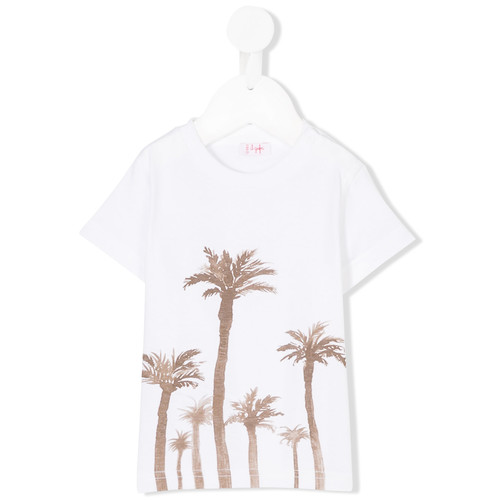 palm trees print T-shirt