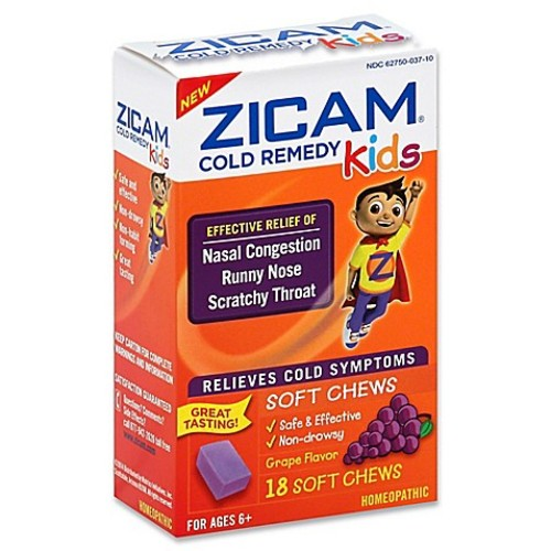 Zicam 18-Count Cold Remedy Relief Soft Chews for Kids in Grape Flavor
