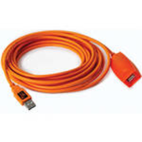 Tether Tools TetherPro 49' USB 2.0 Active Extension Cable, High-Visibility Orange - CU1950