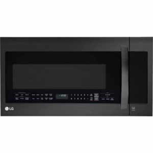 LG 2.0 cu.ft. Over-the-Range Microwave Oven with EasyClean - Matte Black Stainless Steel