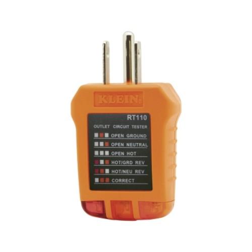 Klein Tools LED Receptacle Tester Orange and Black(RT110)