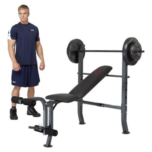 Marcy Standard Weight Bench with 80 lb Weight Set