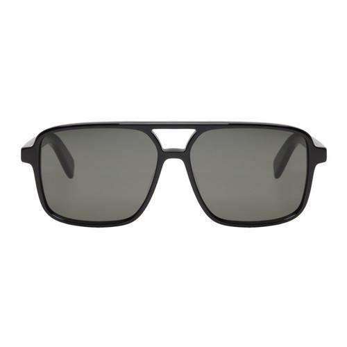 SAINT LAURENT Black Navigator Sl 176 Aviator Sunglasses
