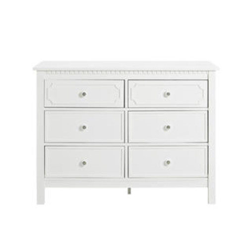 Baby Relax Rivers 6 Drawer Dresser - White