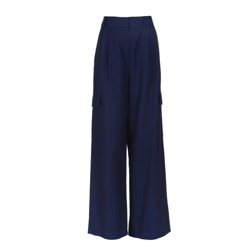 TIBI Washed Indigo Cargo Pants