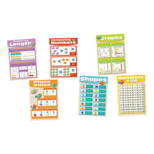 Carson-Dellosa Bulletin Board Set Chevron Math Skills K-5