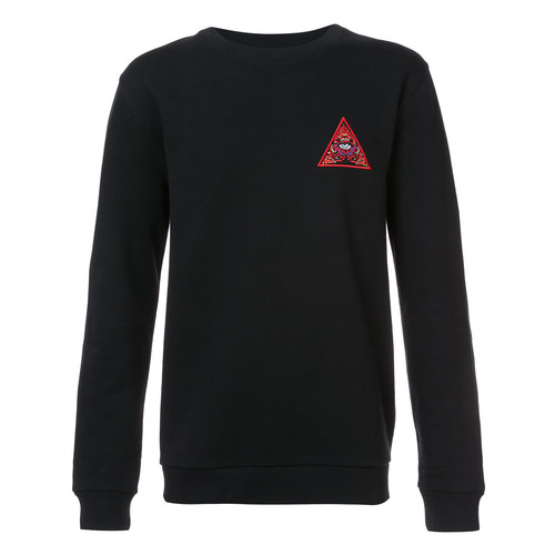 Illuminati patch sweatshirt