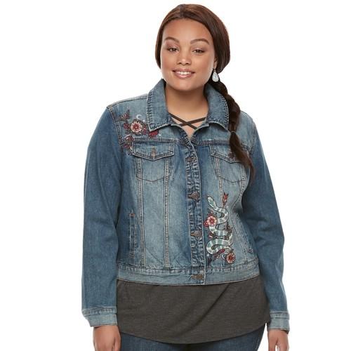 Breckenridge Plus Size Embroidered Jacket