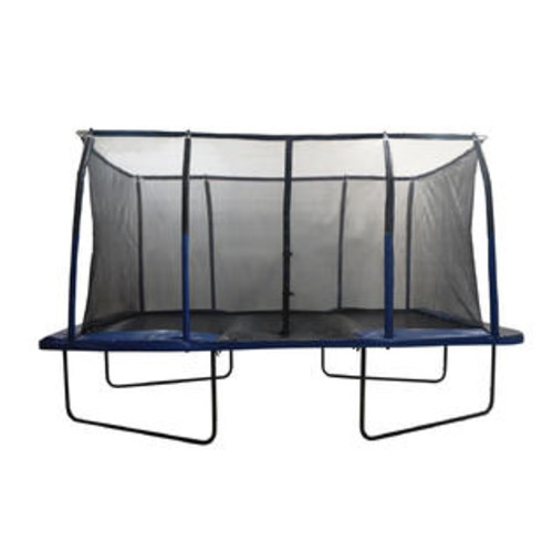 Upper Bounce Easy Assemble Spacious 8' X 14' Rectangular Trampoline With Fiber Flex Enclosure Feature