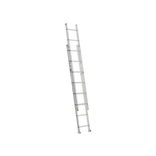 Werner D716-2 200-Pound Duty Rating Type Iii Aluminum D-Rung Extension Ladder, 16-Foot
