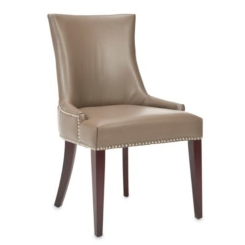 Safavieh Becca Leather Dining Chair in Clay