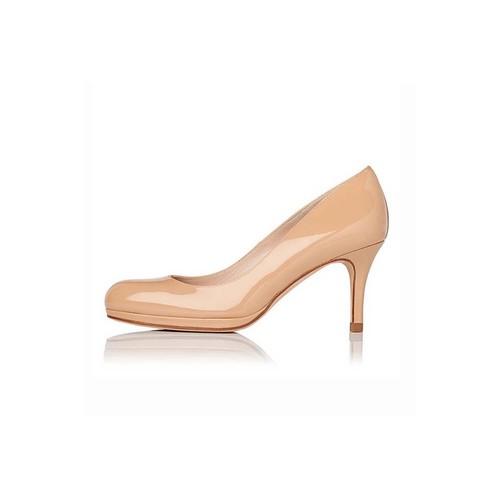 Sybila Taupe Patent Heel