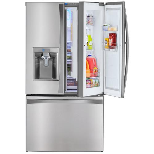 Kenmore Elite 73163 28.5 cu. ft. French Door Bottom Freezer Refrigerator w/ Grab-N-Go Door u0026#8211; Stainless Steel