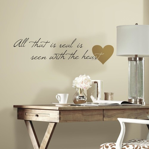 RoomMates Heart Quote Peel and Stick Wall Decals