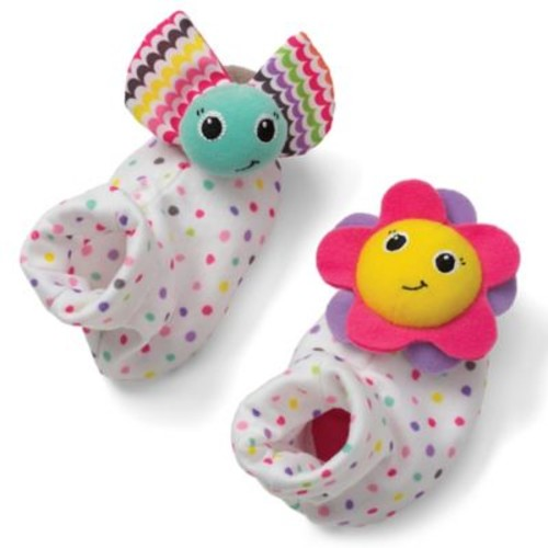 infantino Bug and Sunflower Foot Rattles (Set of 2)