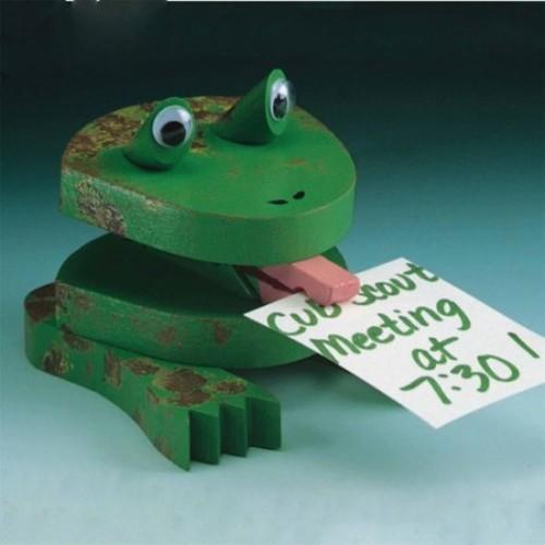 Unfinished Frog Note Holder Unassembled, Pack of 12