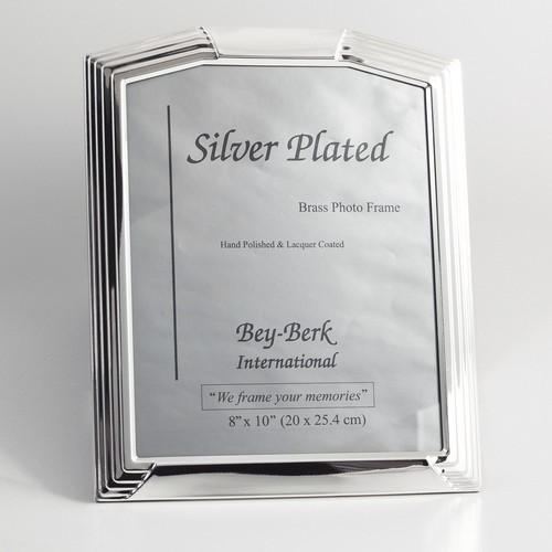 Bey-Berk SF146-12 Silver-Plated 8 x 10 in. Photo Frame - Tarnish Proof