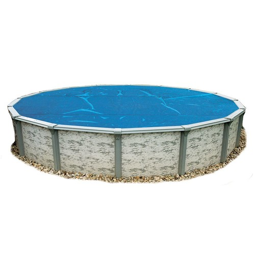 Blue Wave 33-Feet Round 8-mil Solar Blanket for Above Ground Pools, Blue [33-Feet]