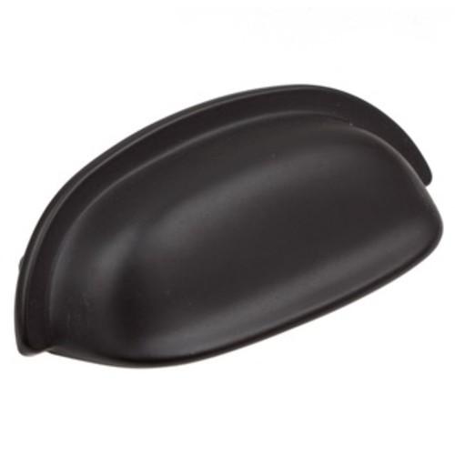 GlideRite 3.5 inch Matte Black Classic Bin Cabinet Pull (Case of 25)
