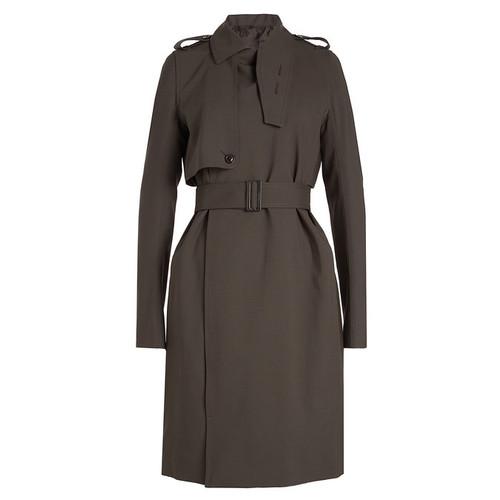 Virgin Wool Trench Coat