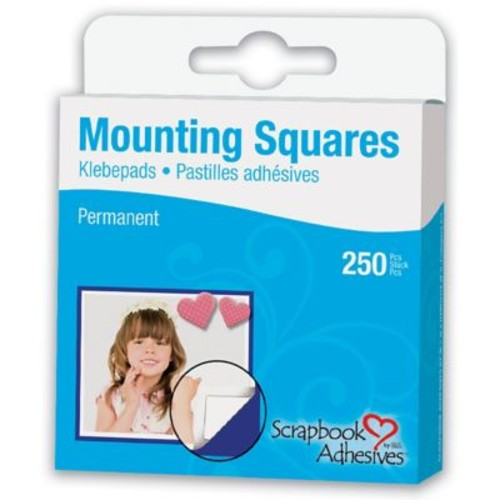 Scrapbook Adhesives Mounting Squares 250/Pkg-Permanent, White, .5